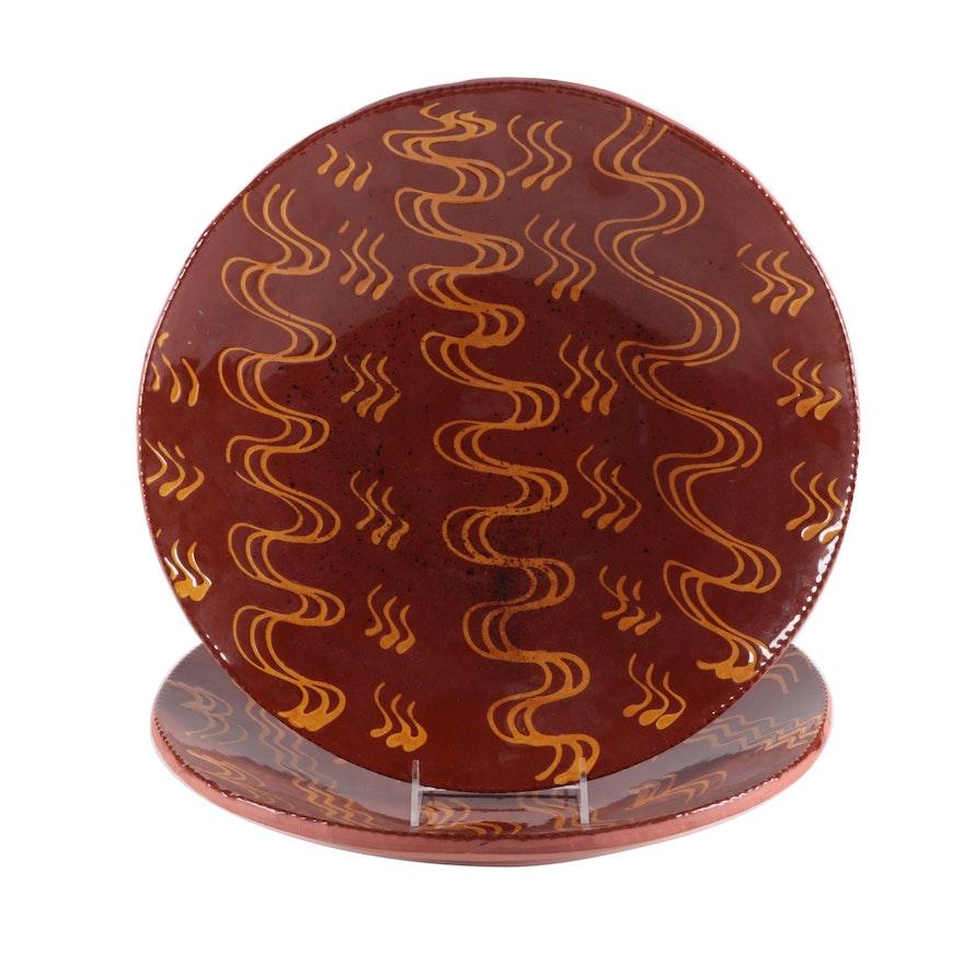 Lester Breininger Robesonia Hand-Thrown Redware Bowls, 1975