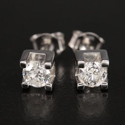 14K 0.85 CTW Diamond Stud Earrings