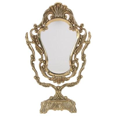 Baroque Style Brass Vanity Mirror, Late 20th Century