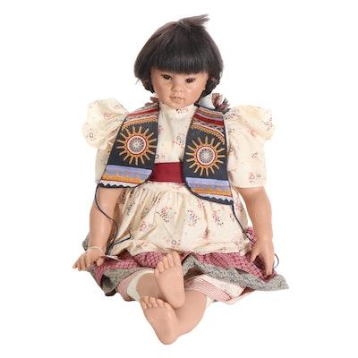 """Rotraut Schrott Limited Edition Vinyl Doll """"Suzi"""" with COA"""