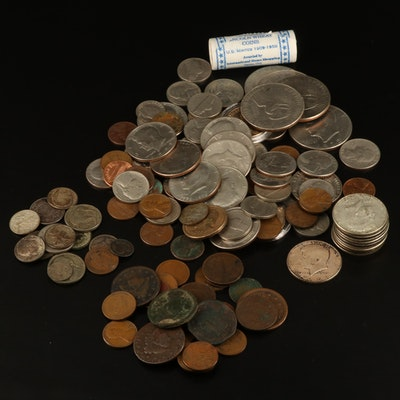 Group of Various American Coins, Including Silver