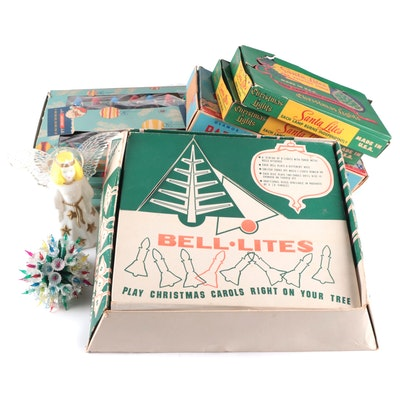 Bell-Lites, Royalites and Other Christmas Lights and Tree Decor, Mid-20th C.