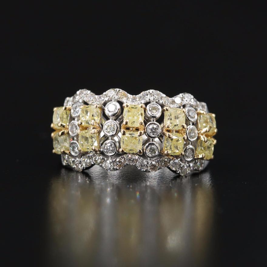 18K 2.15 CTW Diamond Multi-Row Ring