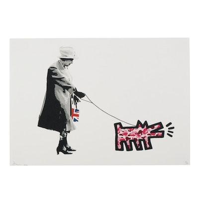 """Death NYC Queen Elizabeth Pop Art Graphic Print """"Queen APE,"""" 2020"""