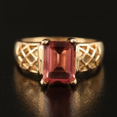 14K Pink Cubic Zirconia Ring