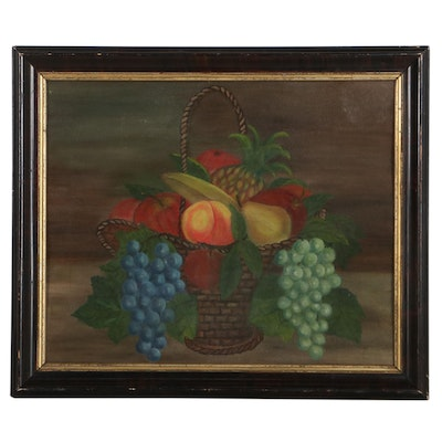Still Life Oil Painting of Fruits, 19th Century