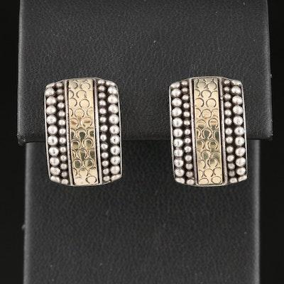 John Hardy Sterling Silver Earrings with 18K Accents