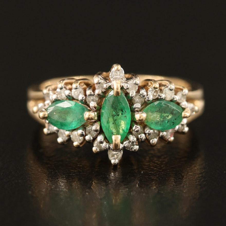 14K Emerald and 0.47 CTW Diamond Ring