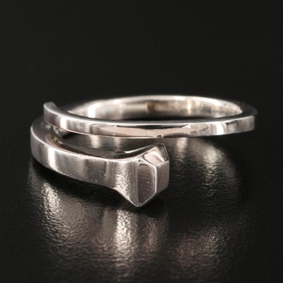 """Gucci """"Chiodo"""" Nail Ring in Sterling Silver"""