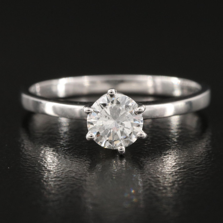 14K 0.50 CT Diamond Solitaire Ring