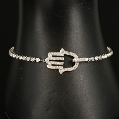 14K 1.10 CT Diamond Hamsa Bracelet