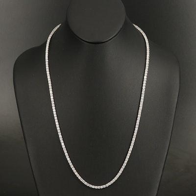 14K 19.87 CTW Diamond Line Necklace