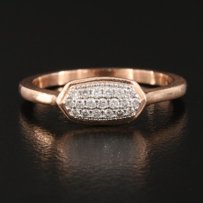 "Kendra Scott ""Isa"" 14K Rose Gold Pavé 0.16 CTW Diamond Ring"