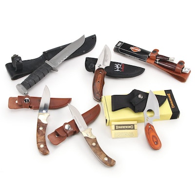 KA-BAR, Browning, United, and Other Fixed Blade and Folding Knives