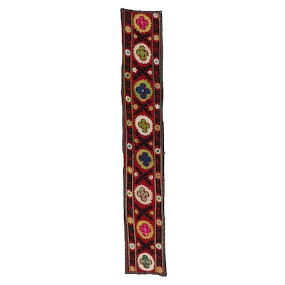 Handmade Central Asian Embroidered Zardevor Wall Hanging