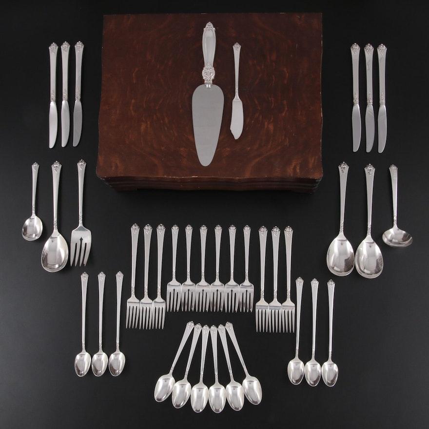 """Royal Crest """"Castle Rose"""" Sterling Silver Flatware and Serving Utensils"""