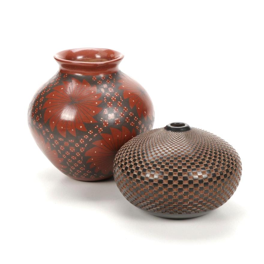 Artist Signed Pueblo and Nicaraguan Clay Vases