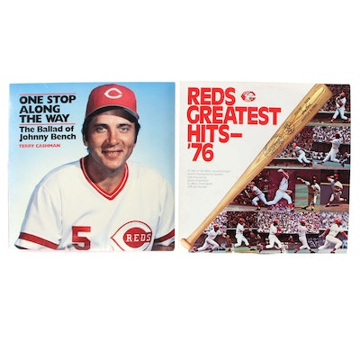 """Cincinnati Reds Vinyl Albums with """"Reds Greatest Hits '76"""" Record"""