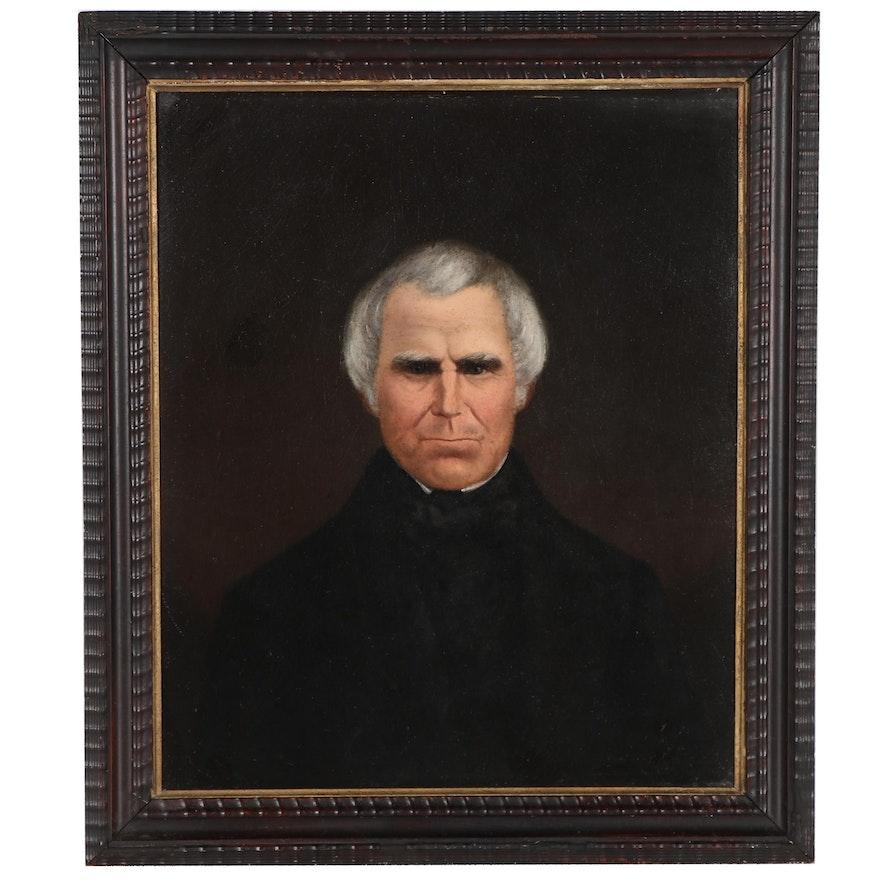 Portrait Oil Painting of Man, 19th Century