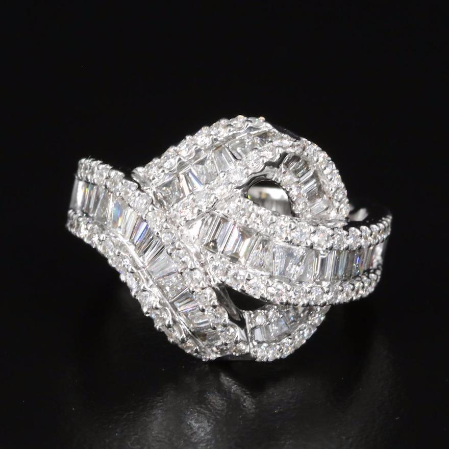 14K 2.15 CTW Diamond Knot Ring