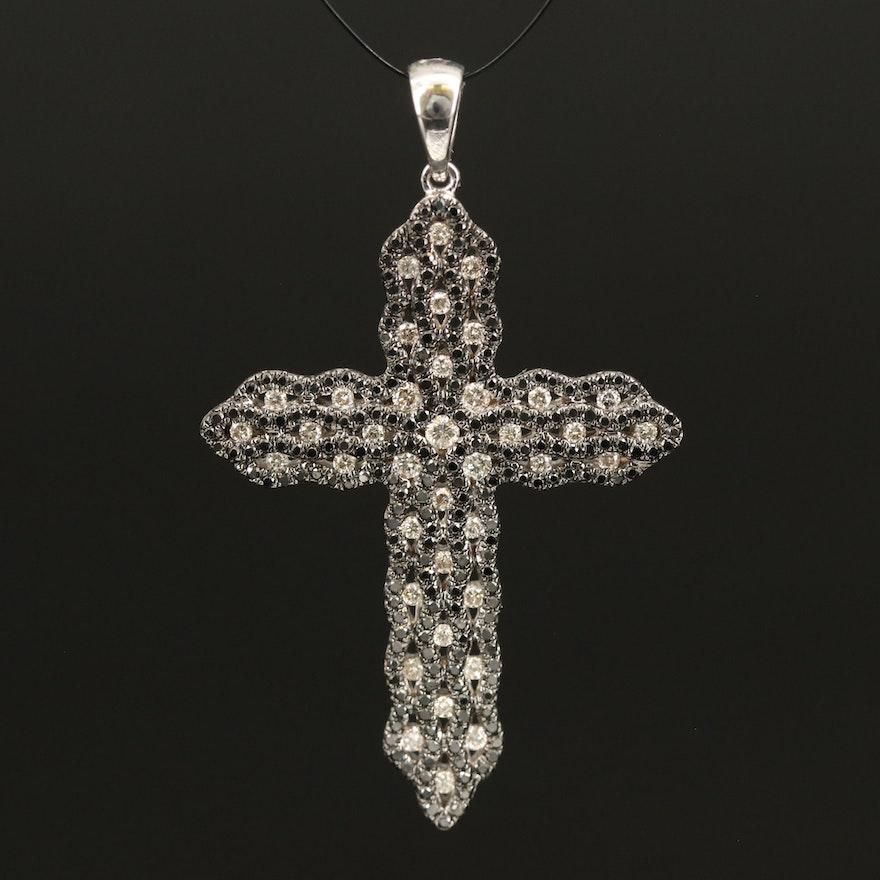 14K 0.58 CTW Diamond Cross Pendant