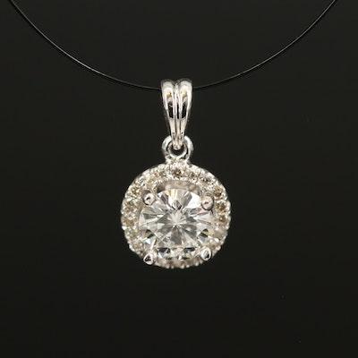 14K 0.56 Diamond Pendant