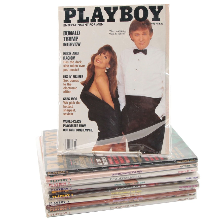 """Playboy"" Magazine Set Featuring Donald Trump Interview, 1990"