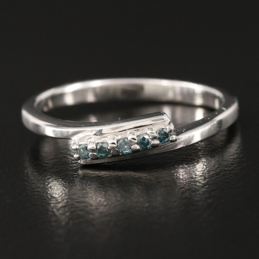 Sterling Silver Diamond Bypass Ring