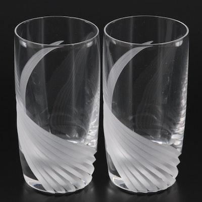 "Lenox ""Wind Swept Clear"" Highball Glasses, 1986–2010"