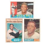 1960s Willie Mays Topps San Francisco Giants Baseball Cards