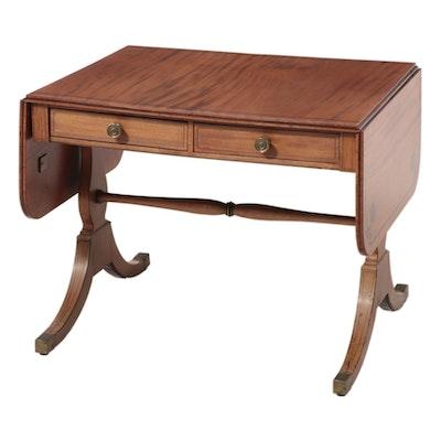 English Regency Ebony Inlaid Mahogany Sofa Table, circa 1825