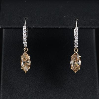 14K 2.12 CTW Diamond Earrings