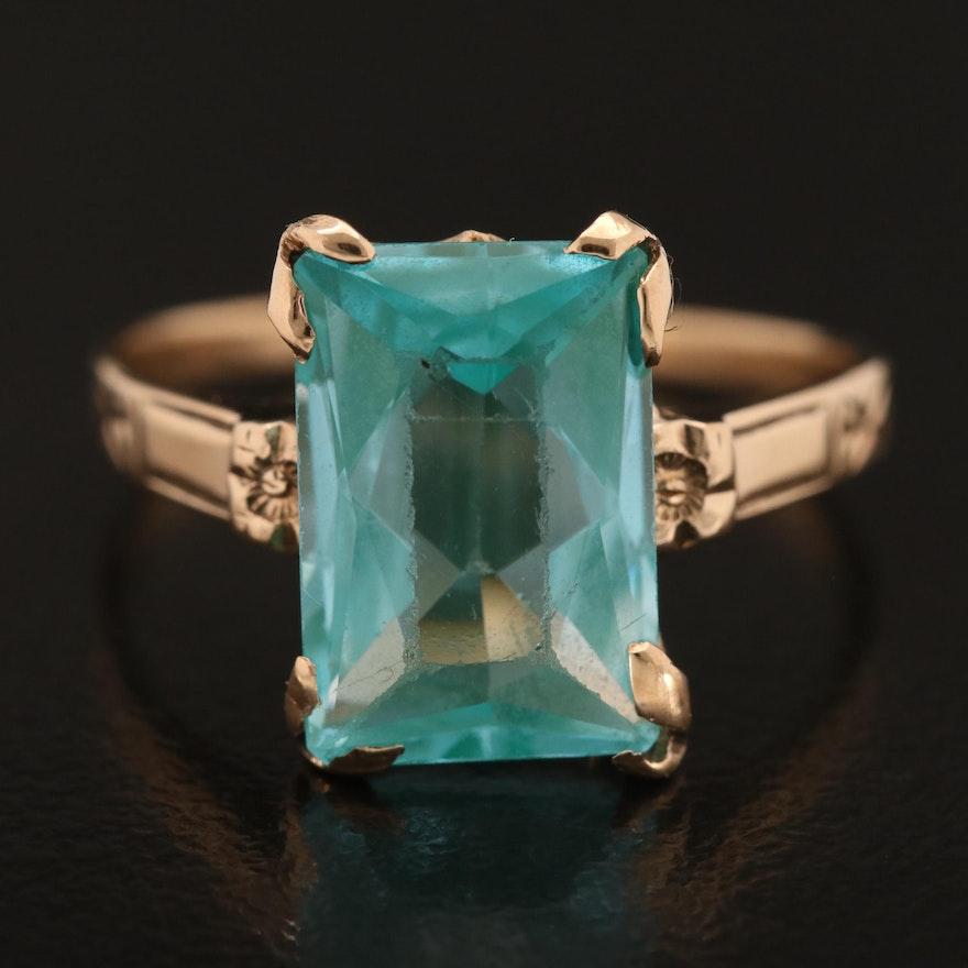 Vintage 10K Spinel Ring