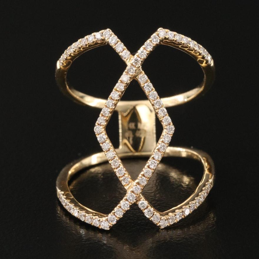 14K 0.40 CTW Diamond Openwork Ring