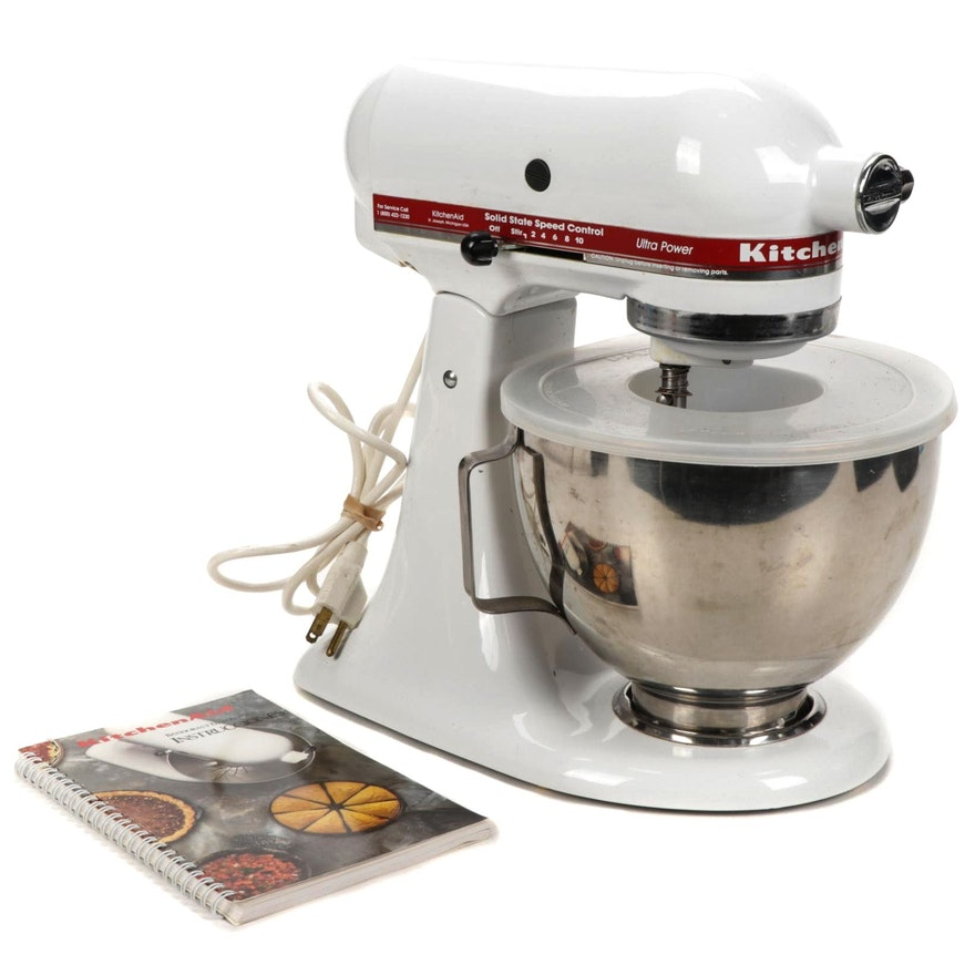 KitchenAid Ultra Power White Stand Mixer with Attachments