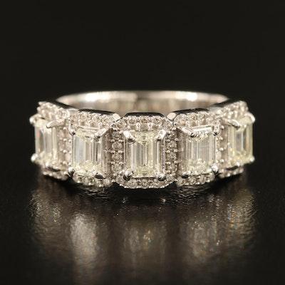 14K 1.19 CTW and 0.25 CTW Diamond Halo Ring