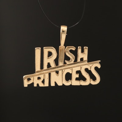 "9K ""Irish Princess"" Pendant"