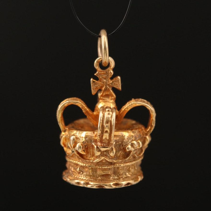 9K United Kingdom Imperial State Crown Charm