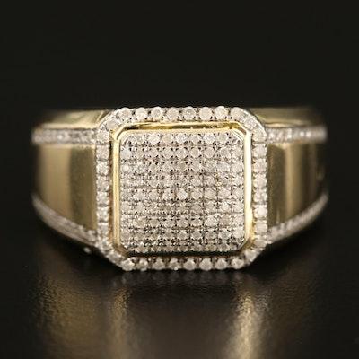 10K 0.75 CTW Diamond Cluster Ring