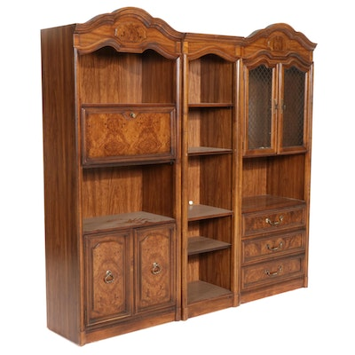 Drexel French Provincial Style Modular Bookcase Wall Unit, Late 20th Century
