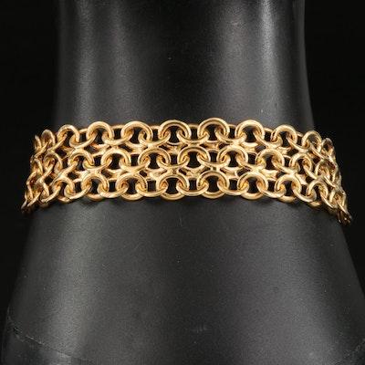 14K Italian Mesh Bracelet