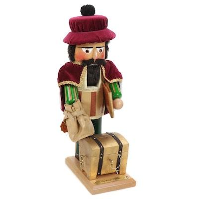 "Steinbach Wooden Handmade ""The King's Treasurer"" Nutcracker"