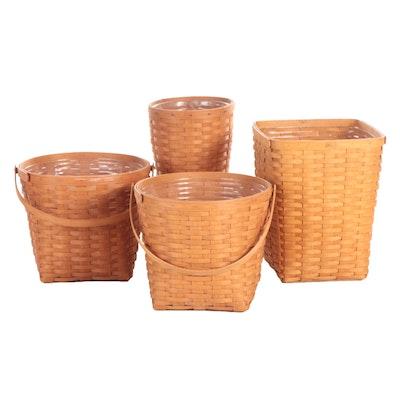Longaberger Handwoven Wood Slat Baskets, Late 20th Century