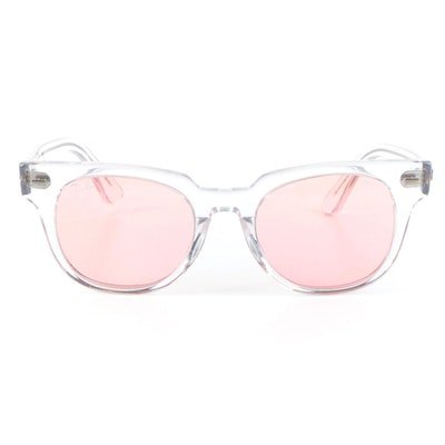 Ray-Ban RB2168 Meteor Horn-Rimmed Sunglasses in Clear Acetate