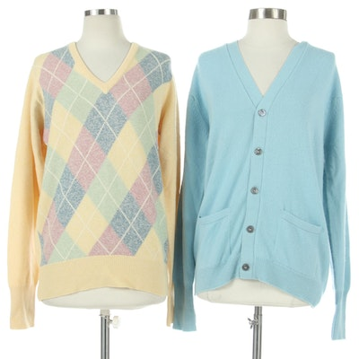 Ballantyne for Saks Fifth Avenue Cashmere Sweater and The Scotch House Cardigan