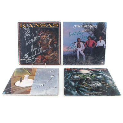 Styx, Kansas, ELP, Jethro Tull Signed Vinyl LP Record Albums
