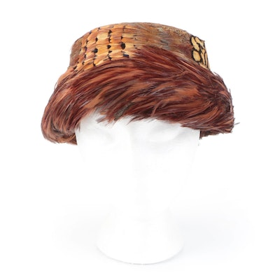 Feathered Hat from The Mabley & Carew Co. with French Room Mabley & Carew Box