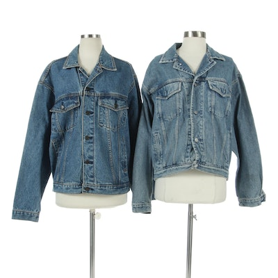 Mickey Inc. and Gap Denim Jackets with Embroidered Back Patches