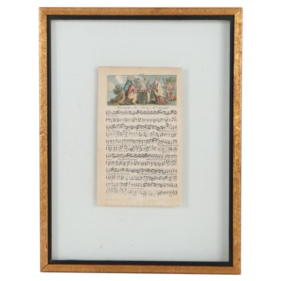 Hand-Colored Engraving and Double-Sided Sheet Music Engraving