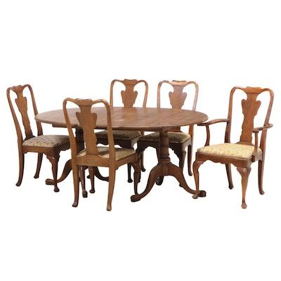 Statton Furniture Queen Anne Style Cherry Dining Set